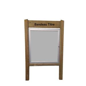 vitrine bois
