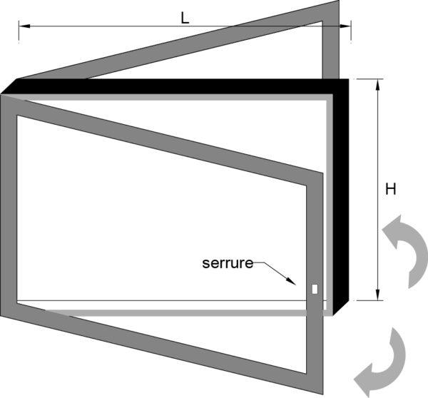 vitrine d'affichage extérieure